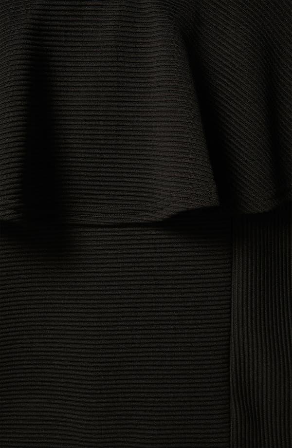 Alternate Image 3  - Topshop Ribbed Peplum Miniskirt