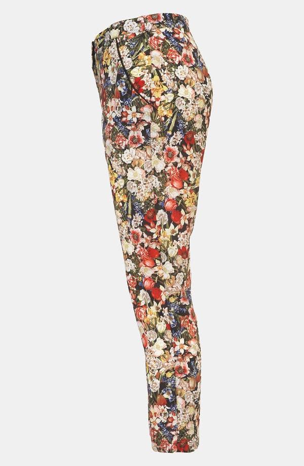 Alternate Image 4  - Topshop Floral Print Crop Cigarette Pants