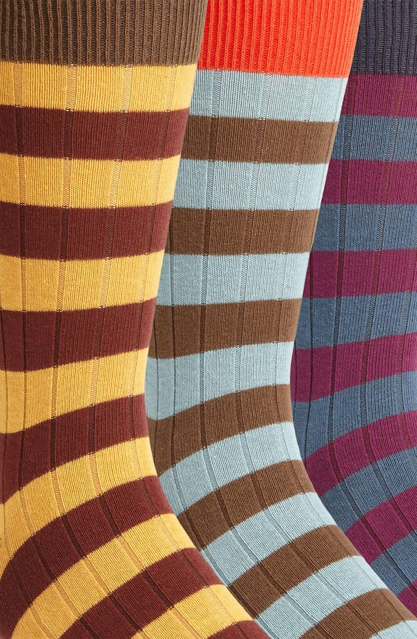 Alternate Image 2  - Topman Stripe Pattern Socks (5-Pack)