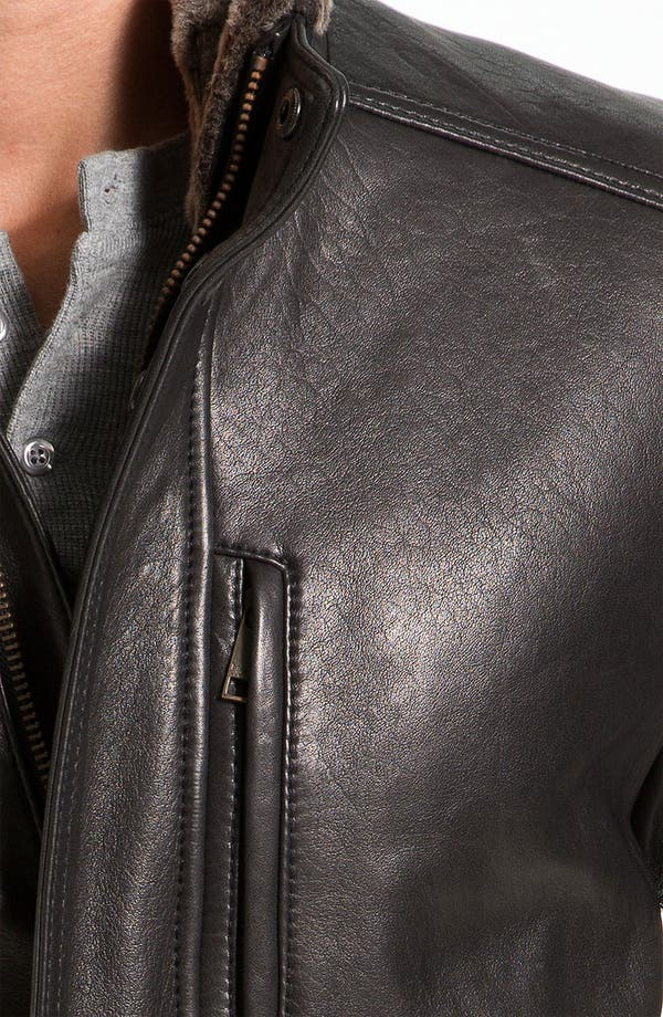 Alternate Image 3  - Marc New York by Andrew Marc 'Noah' Leather Jacket with Genuine Shearling Trim