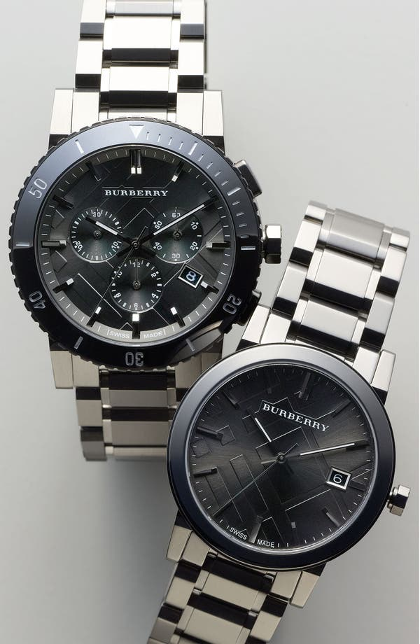 Alternate Image 4  - Burberry Check Stamped Bracelet Watch, 42mm
