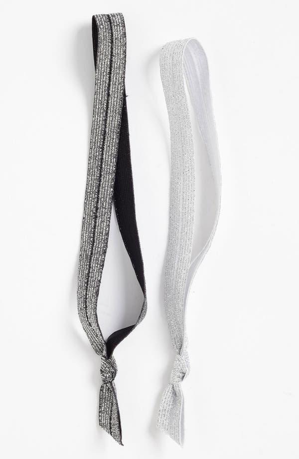 Alternate Image 1 Selected - Emi-Jay 'Silver Glitter' Headbands (2-Pack)