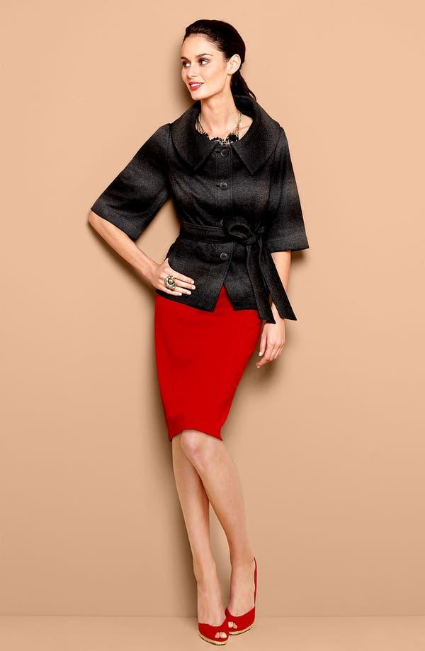 Alternate Image 1 Selected - Amber Sun Jacket & NYDJ Ponte Skirt