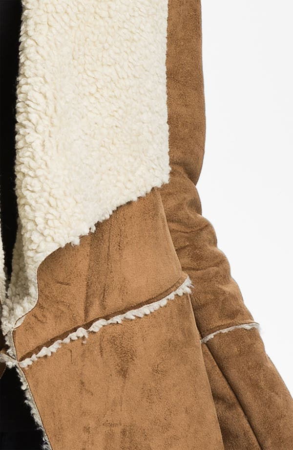 Alternate Image 3  - MICHAEL Michael Kors Faux Shearling Coat