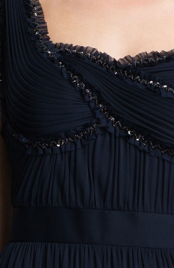 Alternate Image 3  - Adrianna Papell One Shoulder Embellished Bodice Pleated Gown