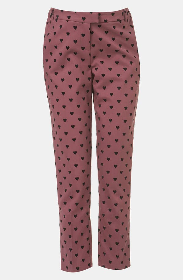Alternate Image 1 Selected - Topshop Flocked Heart Maternity Trousers