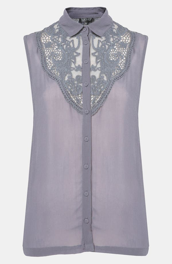 Alternate Image 1 Selected - Topshop Crochet Blouse