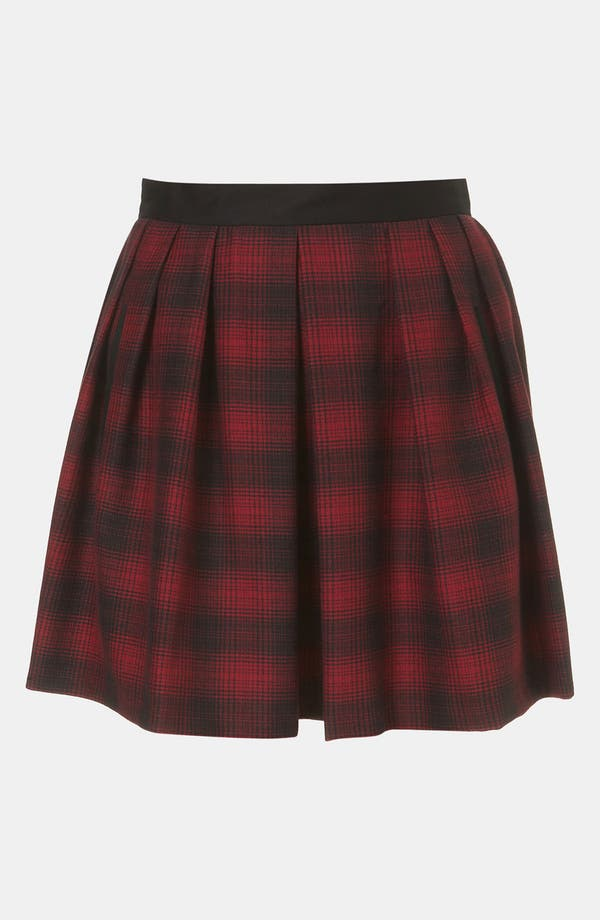 Alternate Image 1 Selected - Topshop Plaid Skater Skirt