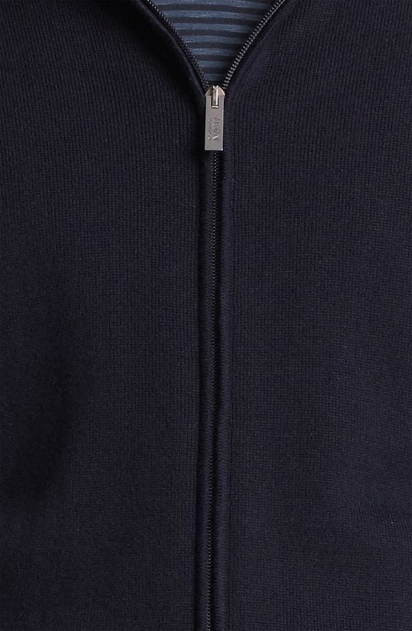 Alternate Image 3  - Armani Collezioni Knit Zip Hoodie