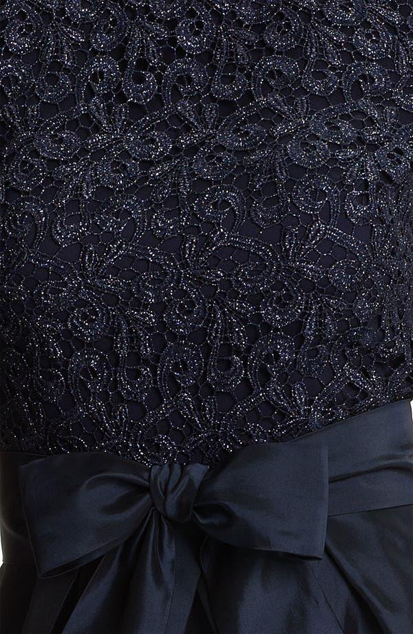 Alternate Image 3  - Suzi Chin for Maggy Boutique Lace & Taffeta Dress