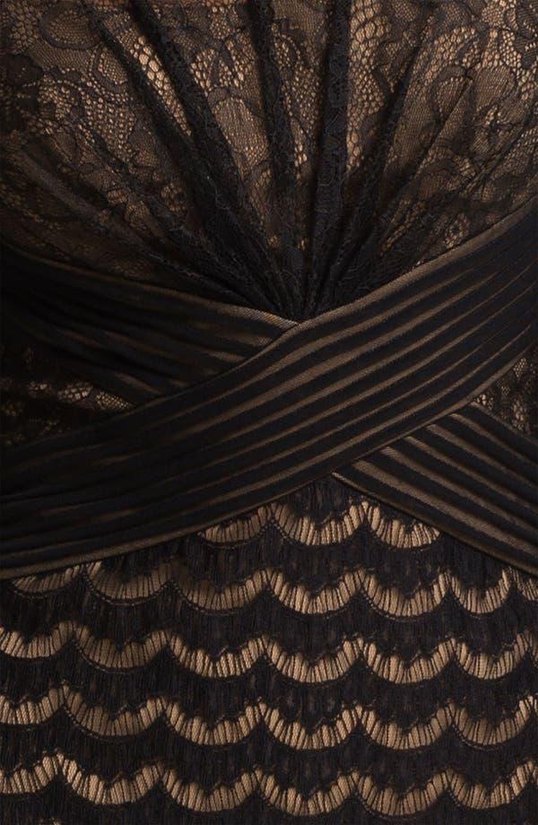 Alternate Image 3  - Tadashi Shoji Illusion Yoke Lace & Mesh Dress