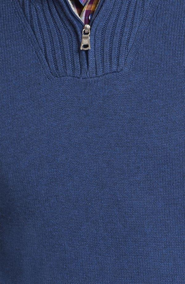 Alternate Image 3  - Robert Talbott Half Zip Cotton & Cashmere Sweater
