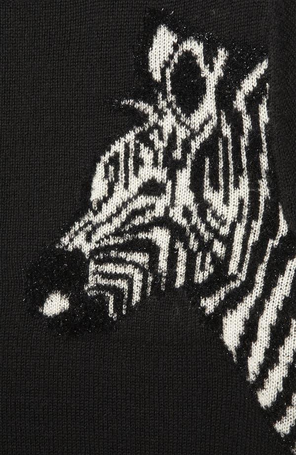 Alternate Image 3  - Topshop 'Mirrored Zebras' Sweater