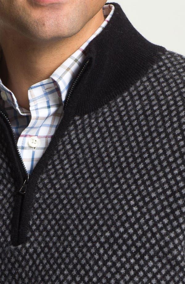 Alternate Image 3  - Franco Danti Wool Half Zip Sweater