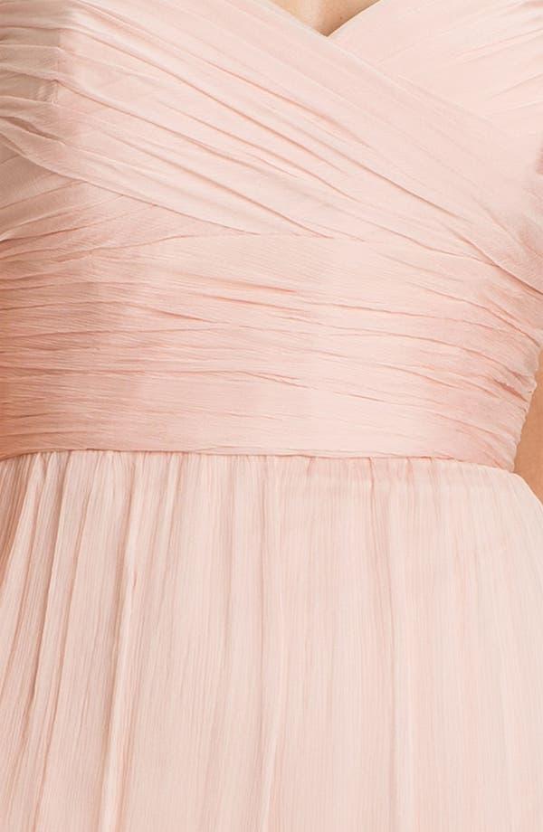 Alternate Image 3  - Amsale Gathered Silk Chiffon Gown