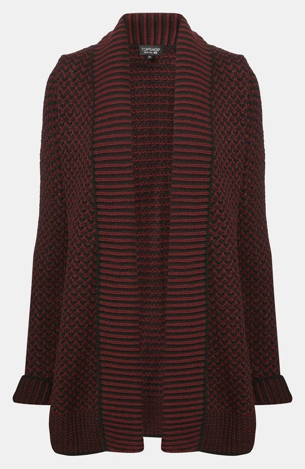 Alternate Image 1 Selected - Topshop Two Tone Cardigan