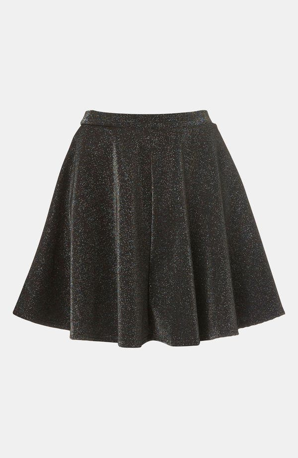 Alternate Image 1 Selected - Topshop Glitter Skater Skirt