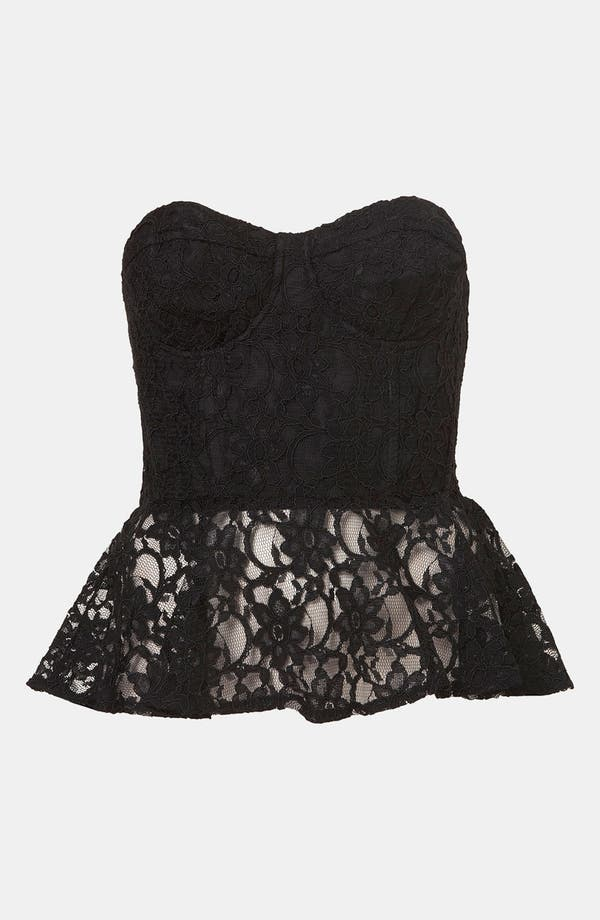 Alternate Image 1 Selected - Topshop Lace Peplum Bustier