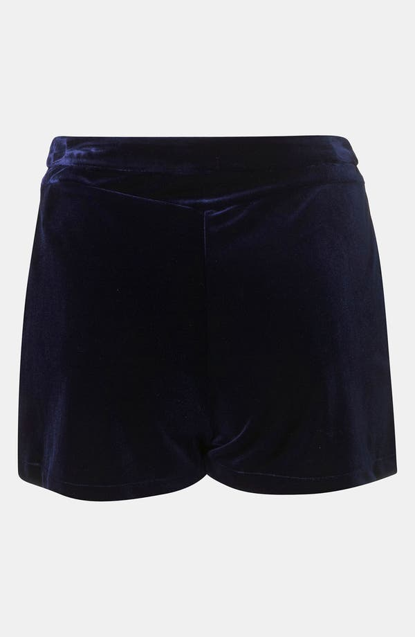 Alternate Image 2  - Topshop Velvet Shorts