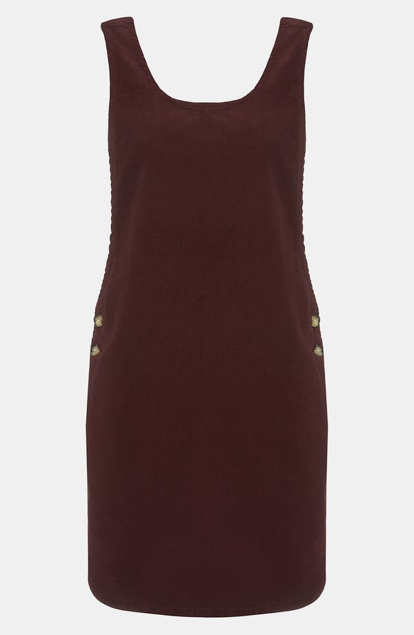 Main Image - Topshop 'Amber' Corduroy Dress