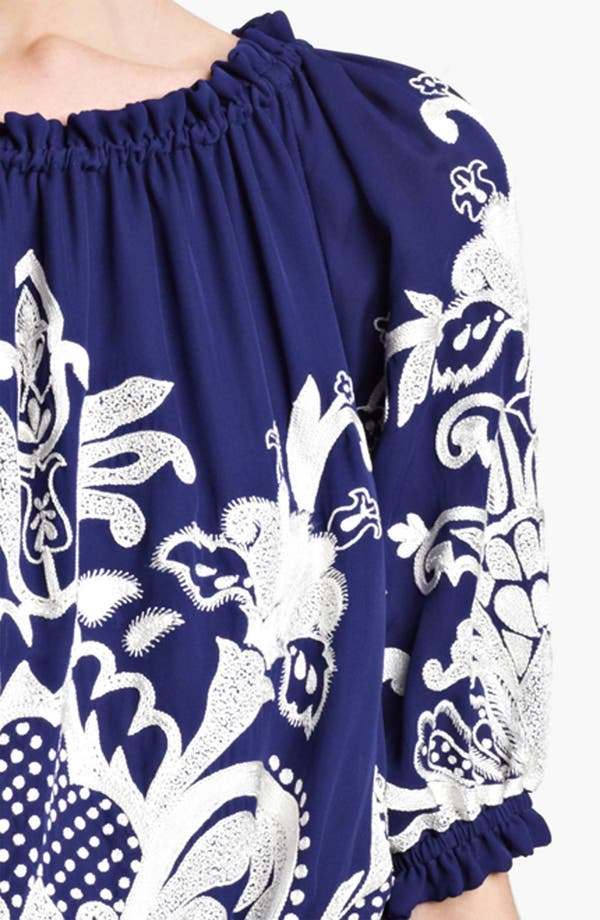 Alternate Image 3  - Naeem Khan Embroidered Peasant Blouse