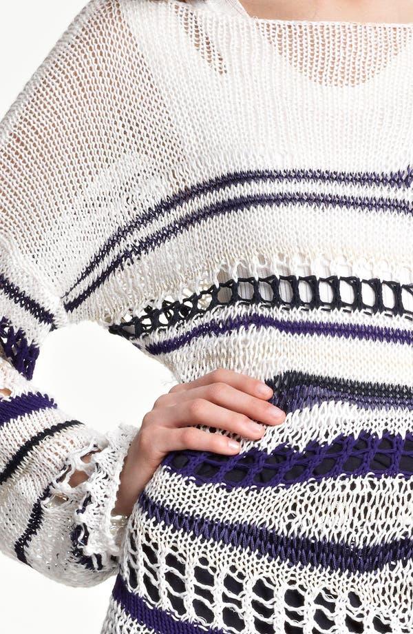 Alternate Image 5  - Jean Paul Gaultier Fuzzi Stripe Open Knit Sweater