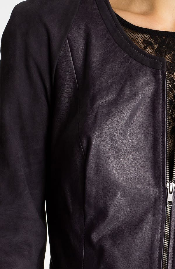 Alternate Image 3  - Hinge® Leather & Suede Peplum Jacket