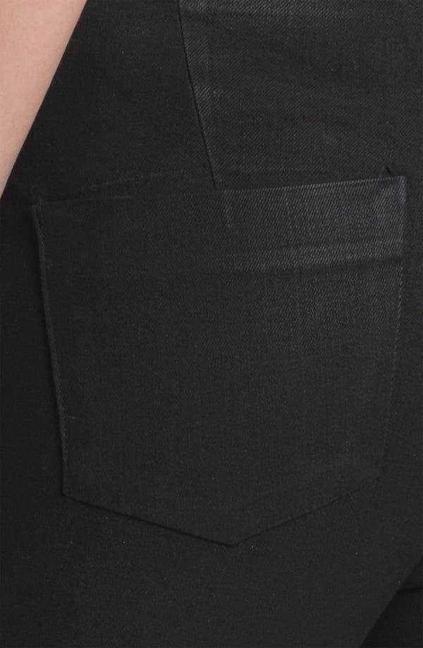 Alternate Image 3  - J Brand Stretch Capri Leggings (Coated Black)