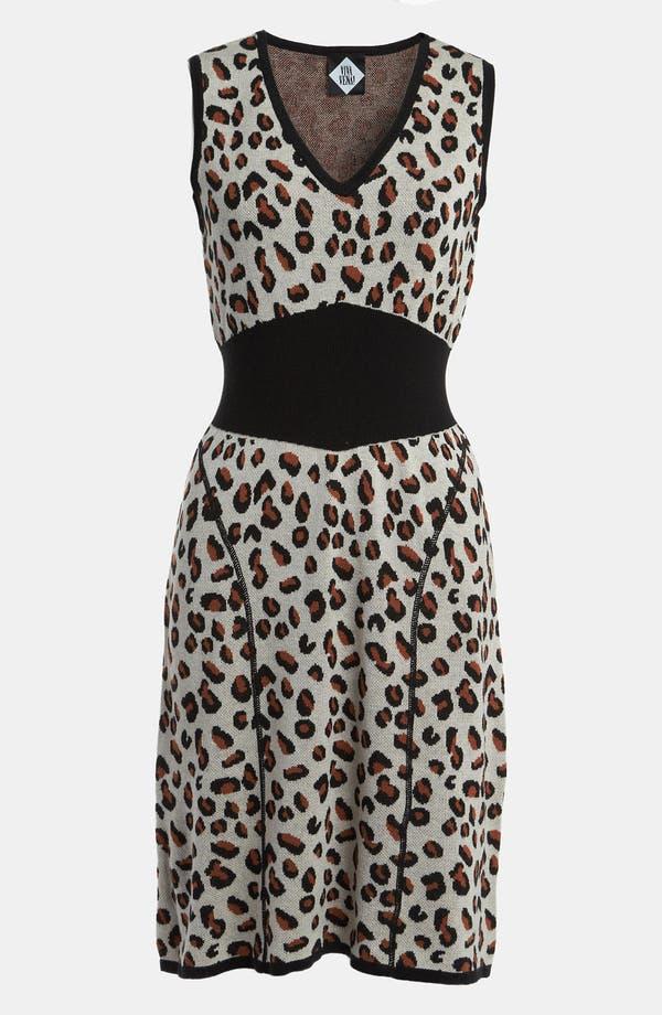 Alternate Image 1 Selected - Viva Vena! Cheetah Print Sweater Dress