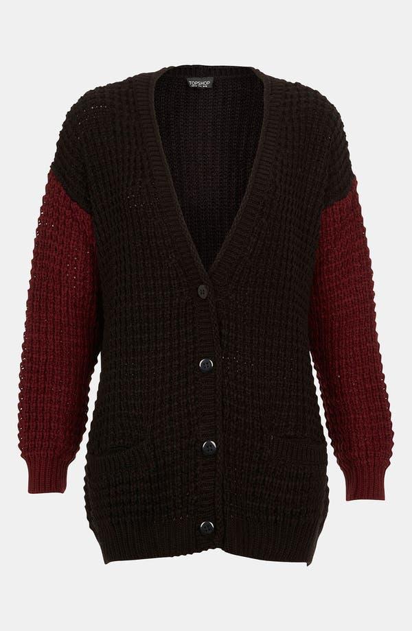 Main Image - Topshop Textured Cardigan