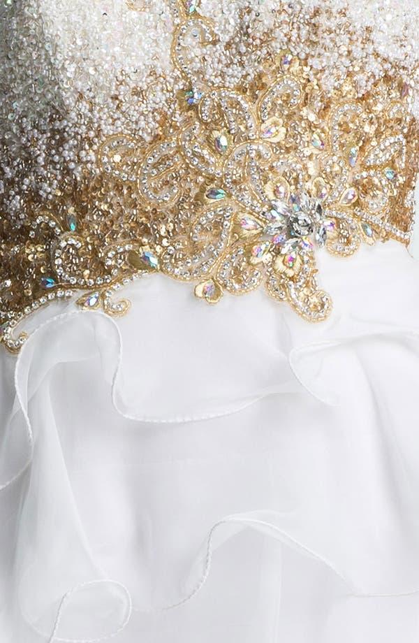Alternate Image 3  - Sherri Hill Ruffled High/Low Chiffon Gown