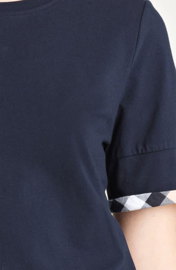 Alternate Image 3  - Burberry Brit Check Cuff Short Sleeve Top