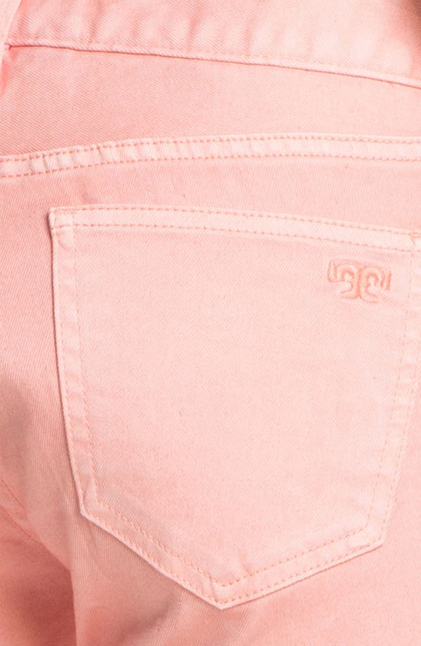 Alternate Image 3  - Tory Burch 'Alexa' Crop Skinny Stretch Jeans (Light Coral)
