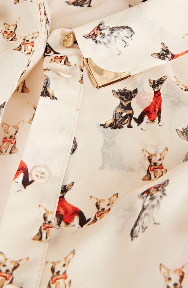Alternate Image 3  - Topshop Dog Print Sleeveless Crop Shirt