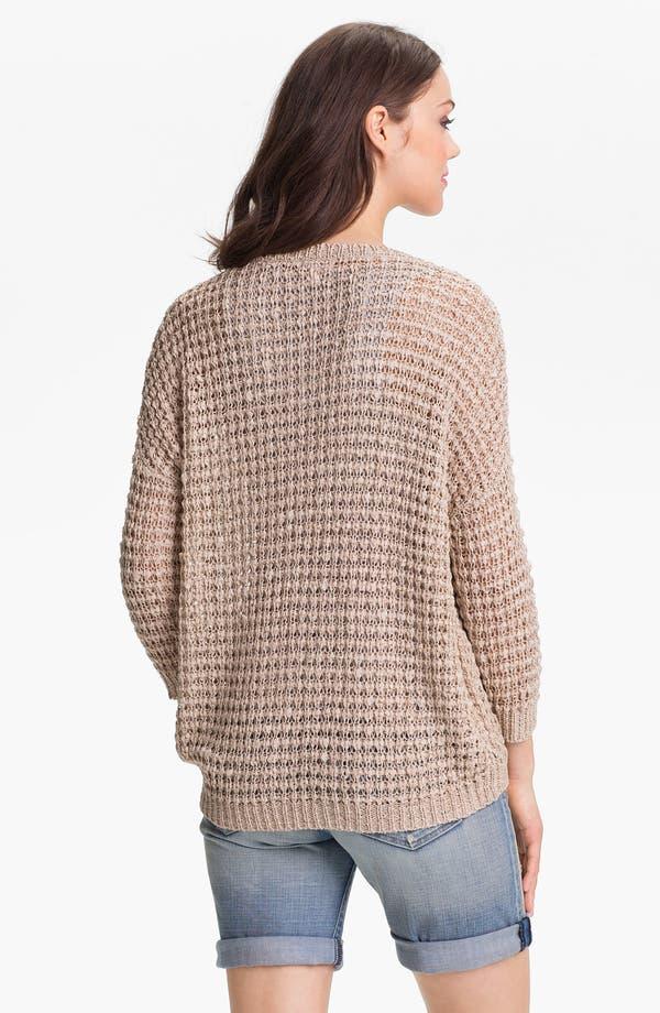Alternate Image 2  - Caslon® V-Neck Ribbon Yarn Sweater