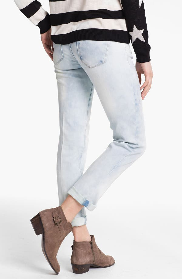 Alternate Image 2  - Jolt Acid Wash Boyfriend Skinny Jeans (Juniors)