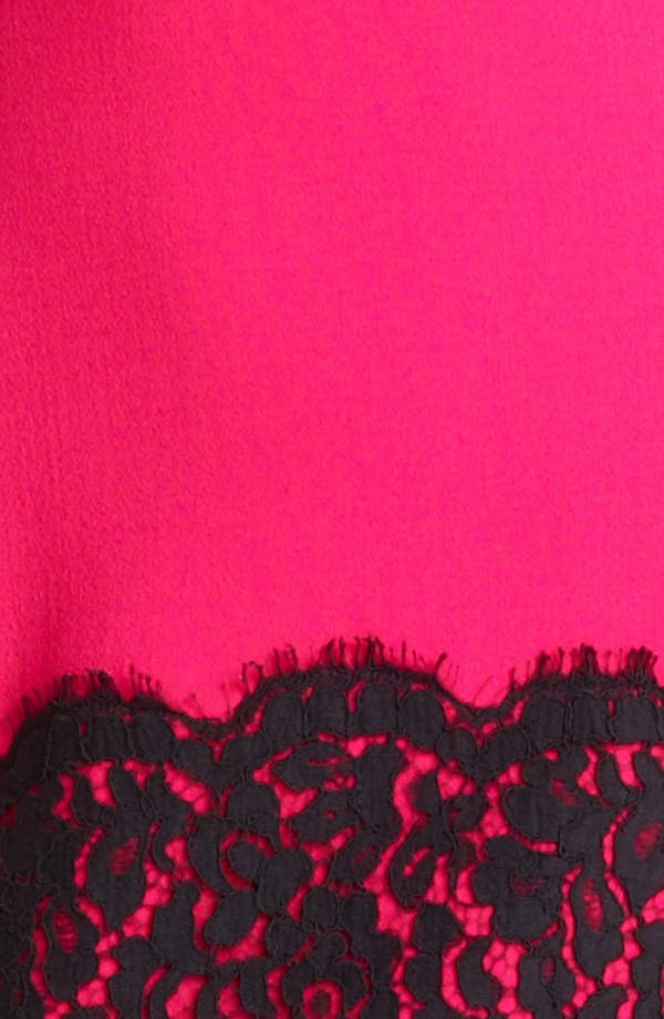 Alternate Image 3  - Michael Kors Lace Trim Crepe Sheath Dress
