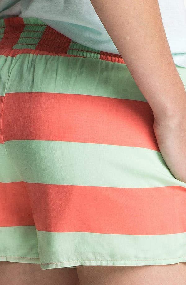Alternate Image 3  - Splendid Neon Stripe Smock Waist Shorts
