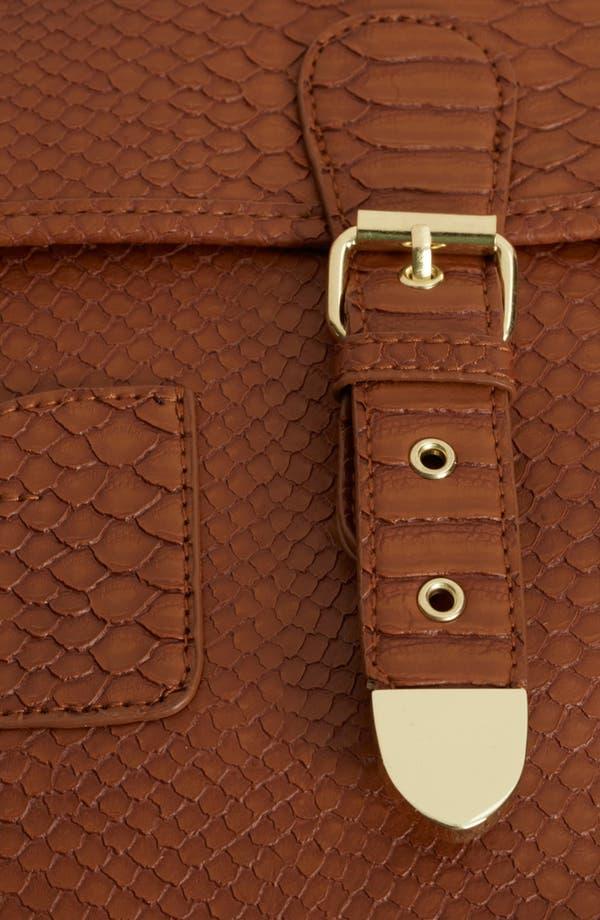 Alternate Image 4  - Topshop Snake Embossed Faux Leather Satchel, Large