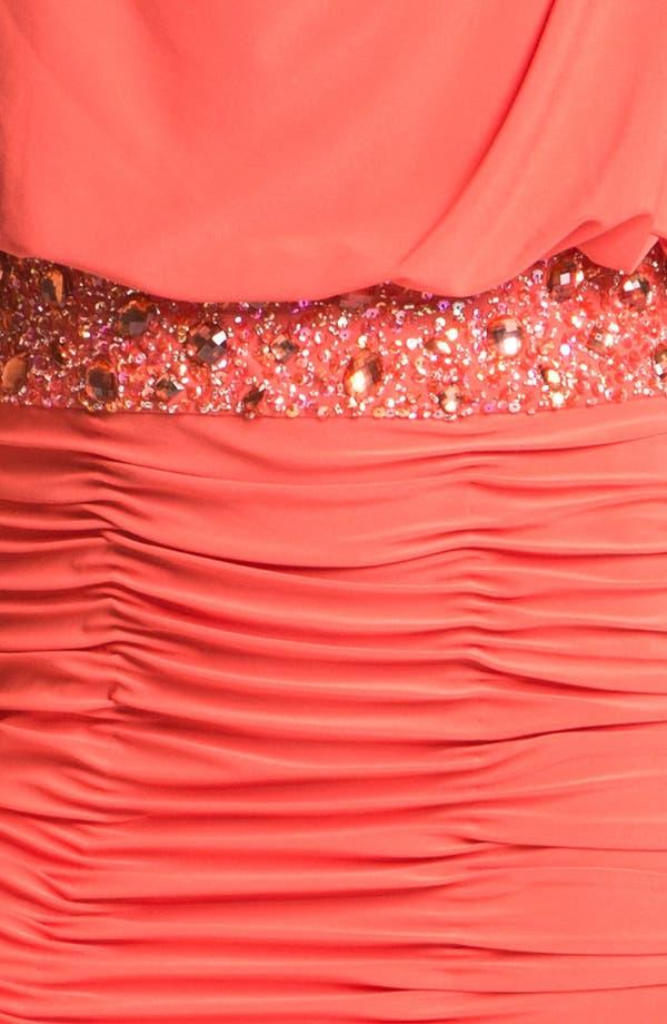 Alternate Image 3  - JS Boutique Embellished One Shoulder Blouson Dress