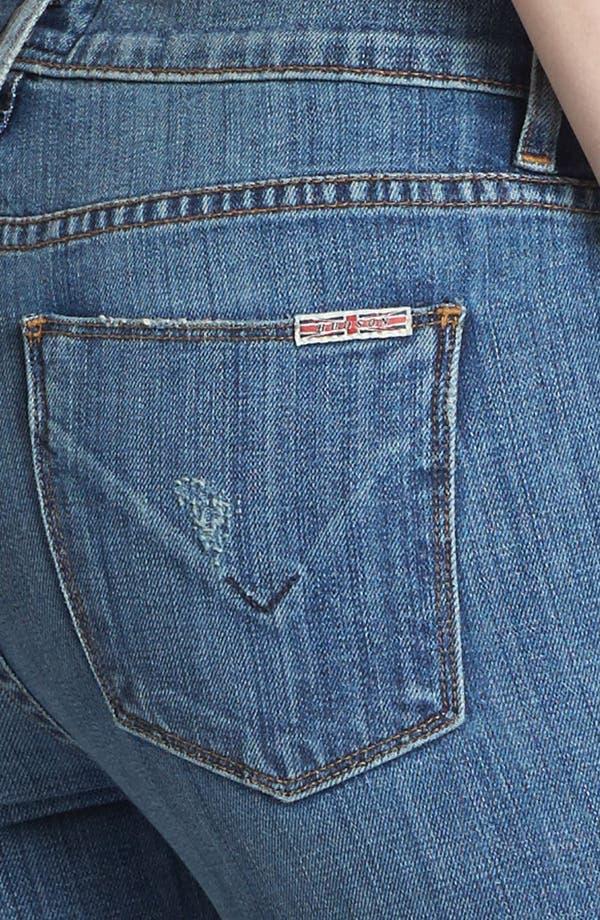 Alternate Image 3  - Hudson Jeans Midrise Cuff Straight Leg Jeans (Vintage Napoli)