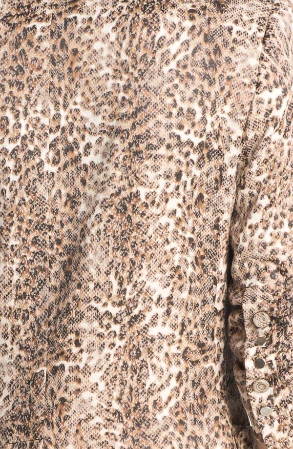 Alternate Image 3  - Alberto Makali Ruched Sleeve Cheetah Print Jacket