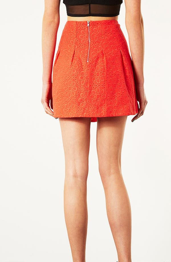 Alternate Image 2  - Topshop Flower Mesh Skirt