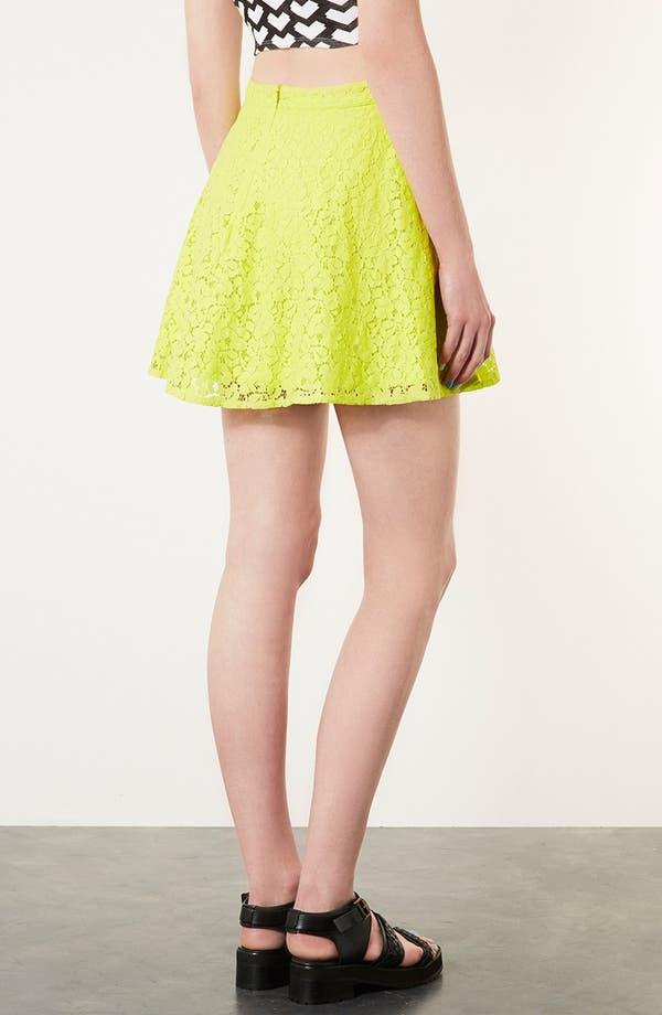 Alternate Image 2  - Topshop Lace Skater Skirt
