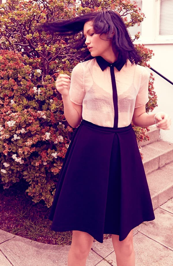 Main Image - ASTR Blouse & Pleated Skirt