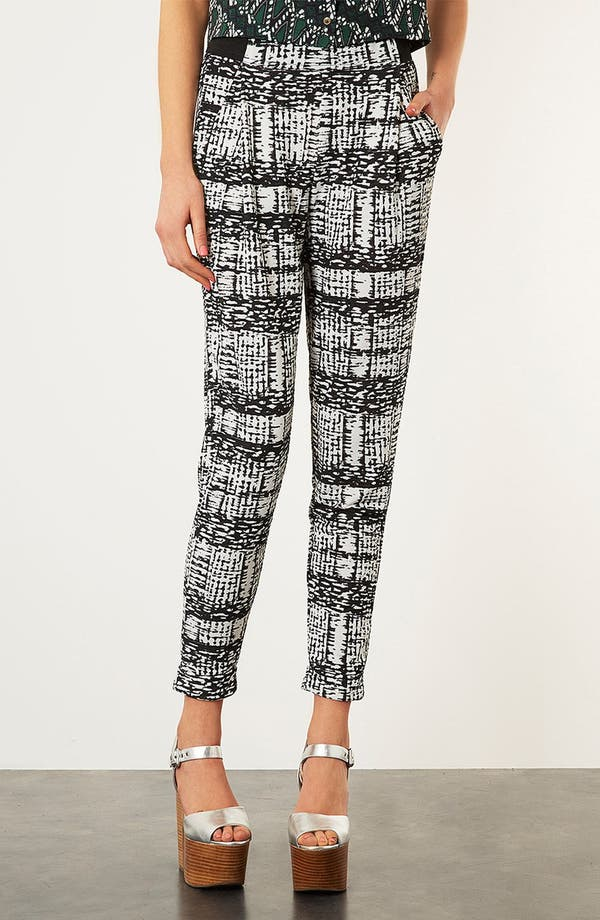 Alternate Image 2  - Topshop Tapered Jersey Trousers