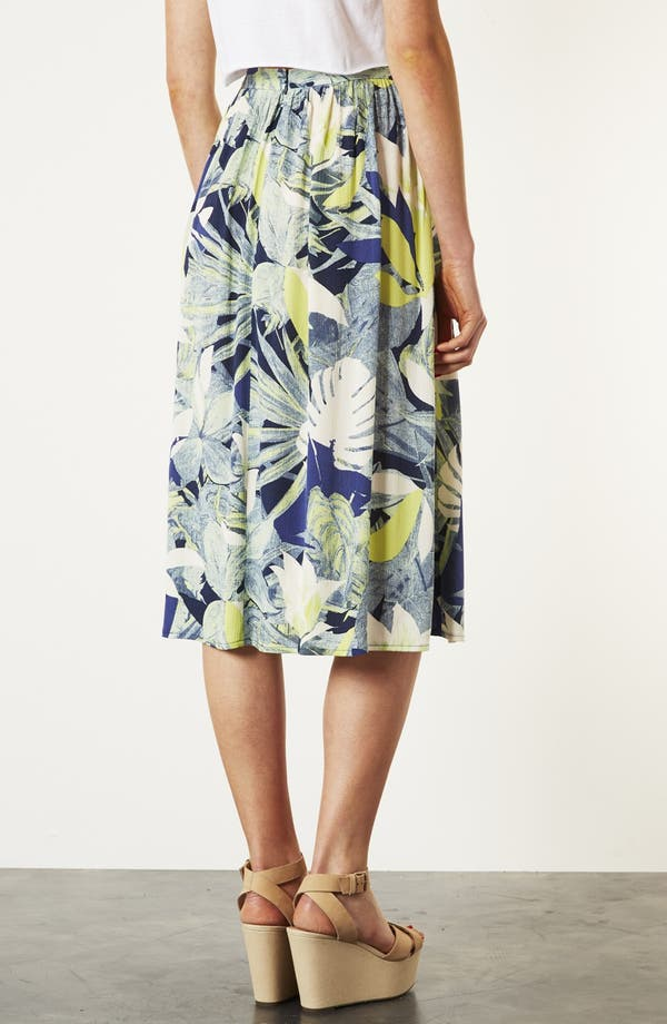 Alternate Image 2  - Topshop 'Crayon Forest' Midi Skirt