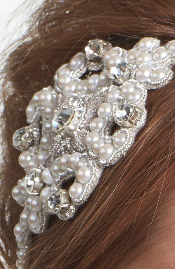 Alternate Image 2  - Cara Pearl & Crystal Head Wrap