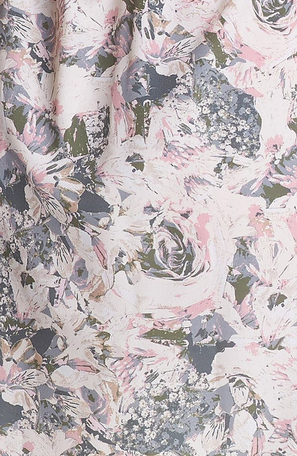 Alternate Image 3  - Socialite Cage Back Floral Print Dress (Juniors) (Online Only)