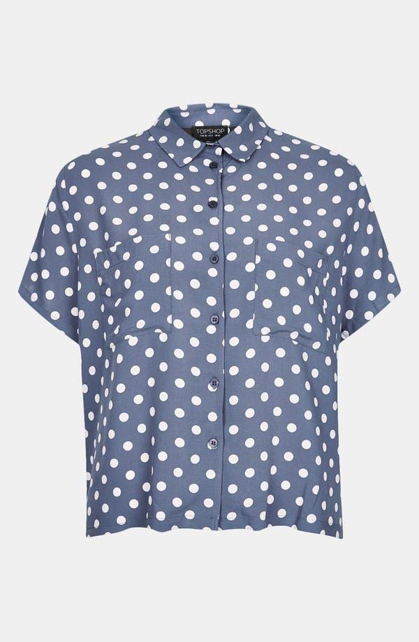 Alternate Image 3  - Topshop Polka Dot Shirt